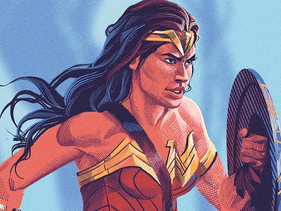 Diana comics fanart illustration wonder woman