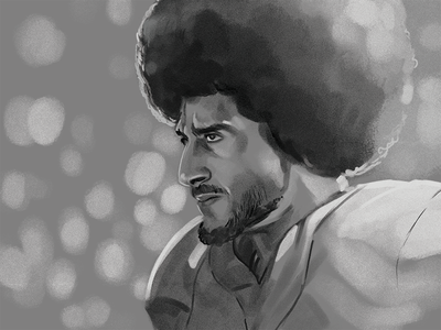 The Man In The Arena illustration portrait football kaepernick kaep