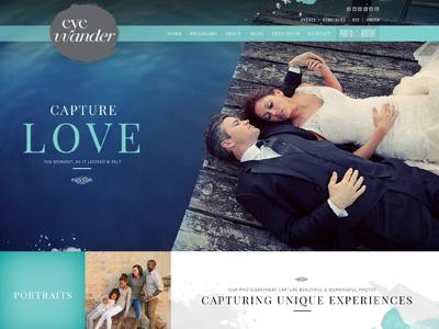 Eye Wander Photo Website Design photography website