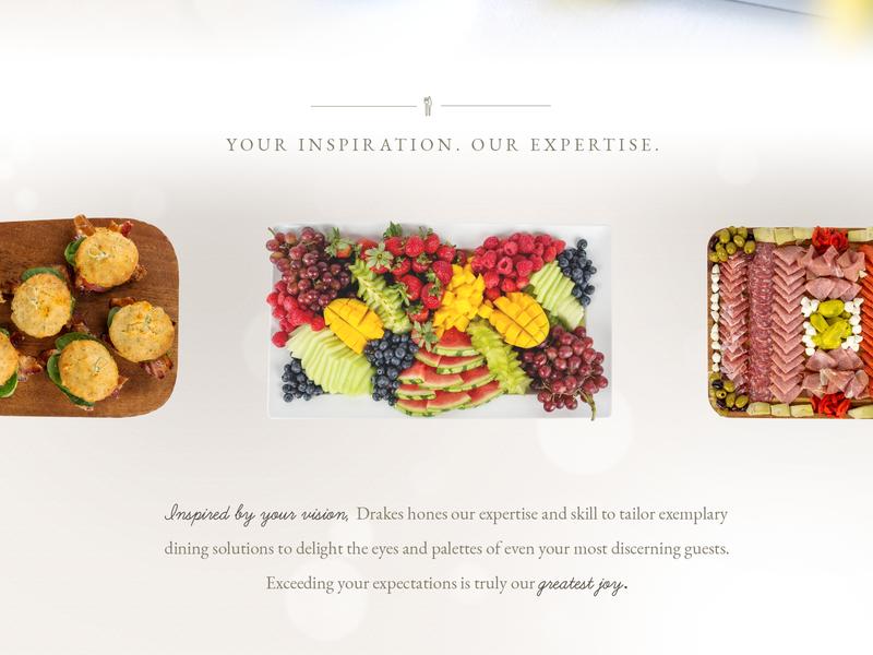 Drakes Catering Website Design design website