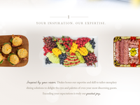 Drakes Catering Website Design