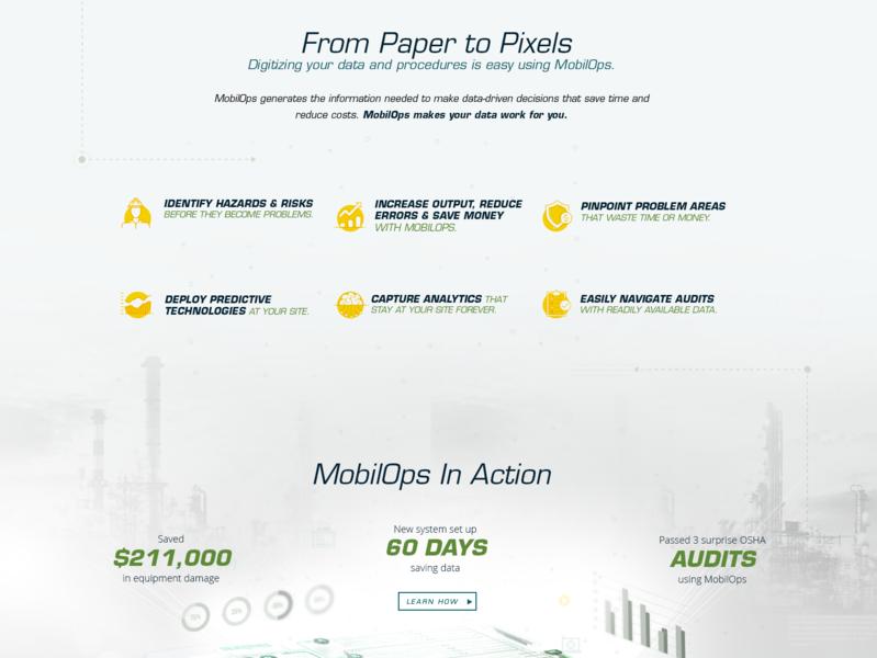 Mobilops Website Design design website