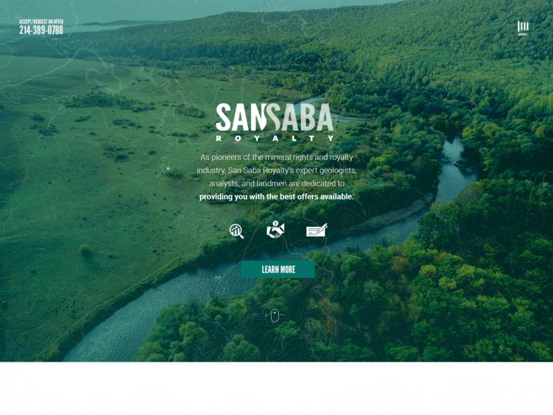 San Saba Royalty website