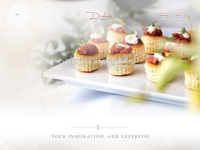 Drakes Catering Website Design website