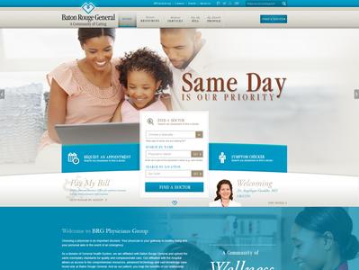 Baton Rouge Physicians Group Website Design website