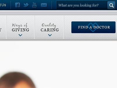 BR General Website Design navigation medical website
