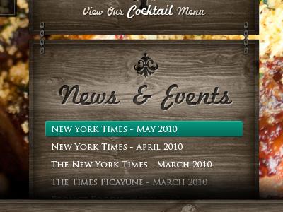 LRG Content Design restaurant website texture