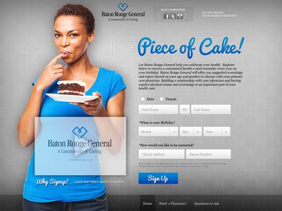 It's a Piece of Cake website medical facebook social tool