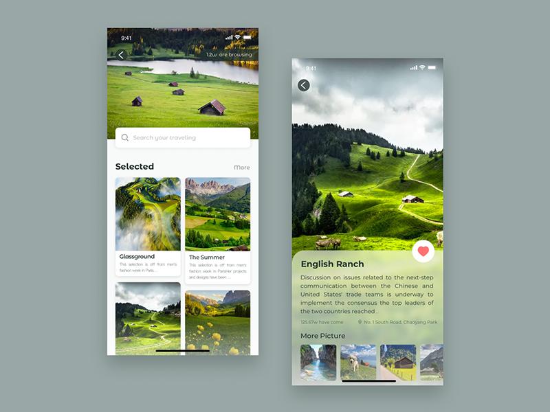 旅行界面设计 app ui design