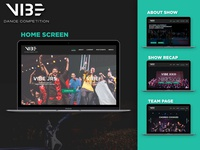 VIBE Dance Competition | Website Redesign