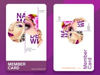 Elegant and minimalist Member Card Design