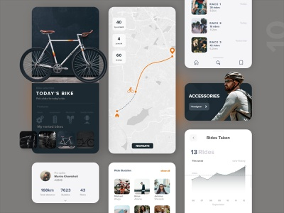 10 cycling app player athlete product page design detail uxdaily ui mobile dailychallenge adobexd