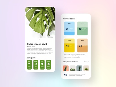 #12   plant activity tracker tracker plants app plant design detail uxdaily ui mobile dailychallenge adobexd