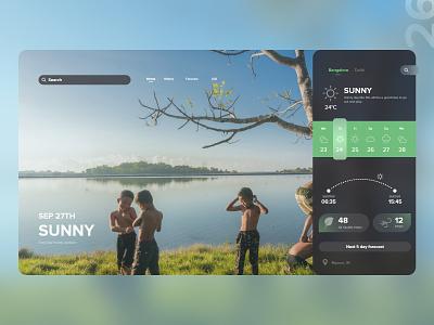 26   Weather app climate calander clock weather app mobile detail design uxdaily ui dailychallenge adobexd