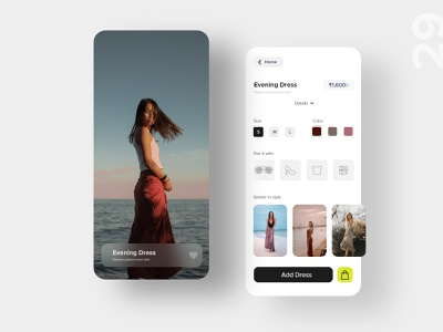 29   Fashion app brand ecommerce cart mobile app shopping retail fashion product page design uxdaily ui dailychallenge adobexd