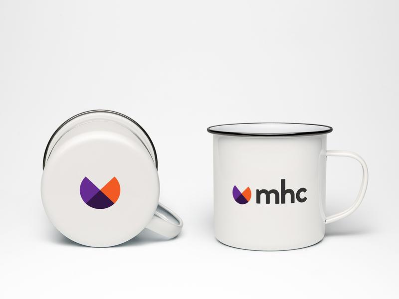MHC | New Visual Identity & Branding purple orange branding visual identity logo design logo design vector minimal
