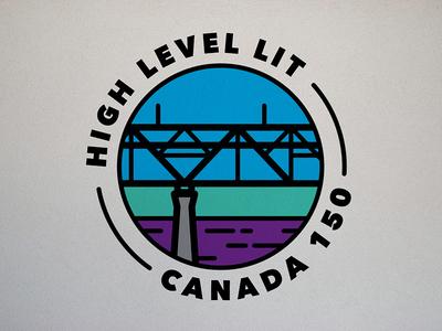High Level Lit | Logo Concept minimal vector thick lines circle monoweight line art logo