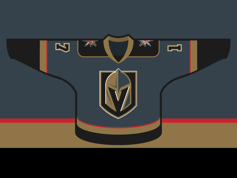 huge discount 440a9 4ea80 Vegas Golden Knights - Home Jersey Concept by Alan Hargrove ...