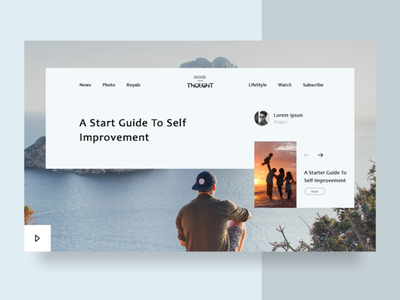 Self Improvement Guide thought banner thought banner improvements banner ad banner design