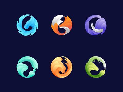 Circle Animal Logos