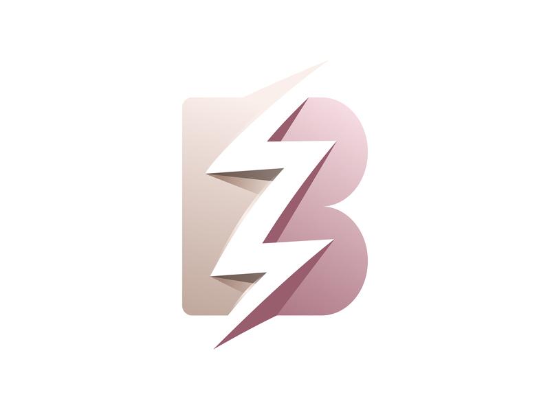 B + Storm brand identity minimalism simple design identity modern pastel storm letter b illustrator flat branding ui minimal logo icon illustration gradient dribbble musafeer msaifulhak