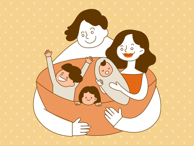 meaning of family illustrator graphic family character design character illustration