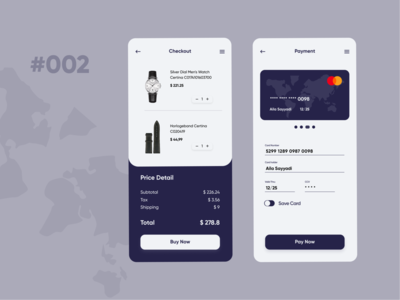 DailyUI002-Payment dailyui002 daily ui payment ui design mobile app figma app ui design