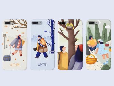 Seasonal illustrations