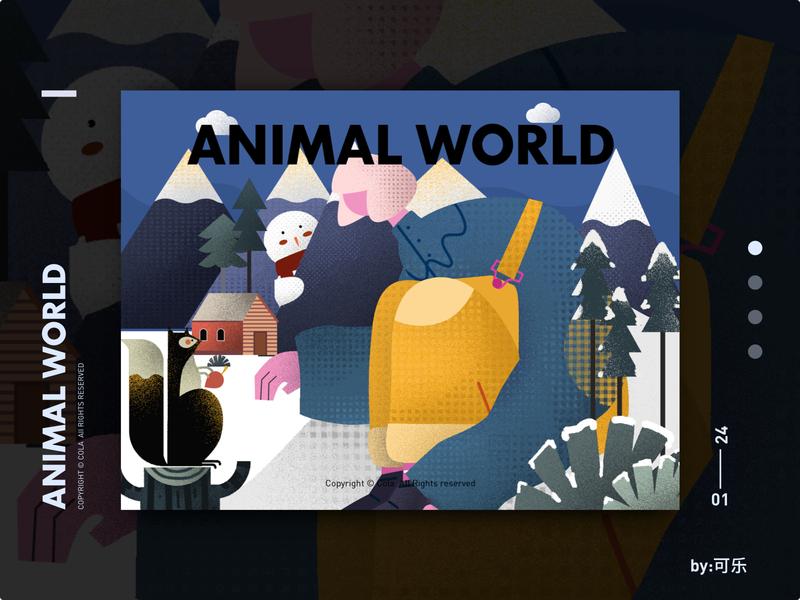 Animal world-3 设计 animal girl illustration 插图