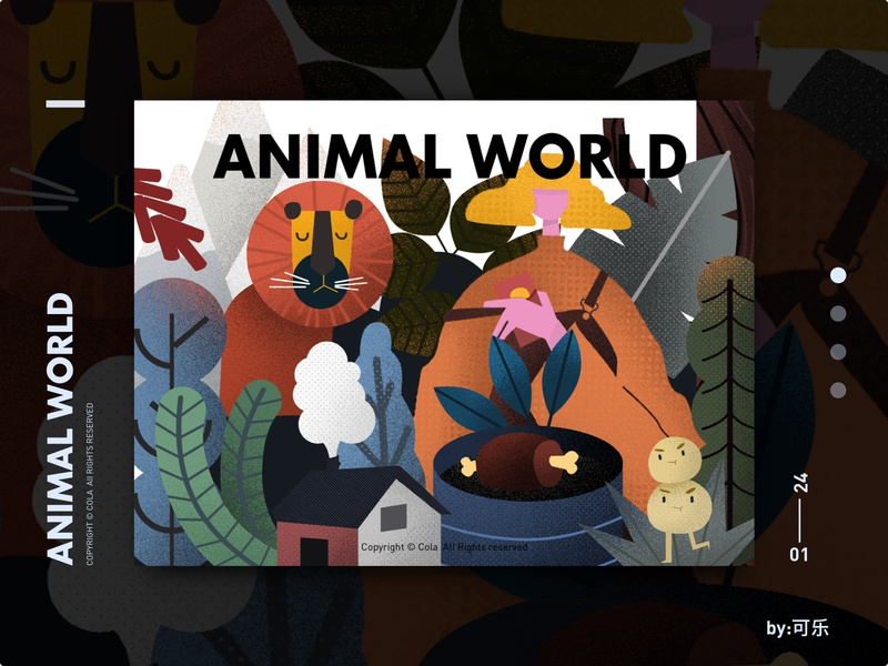 Animal world-4 设计 女孩 动物 插图