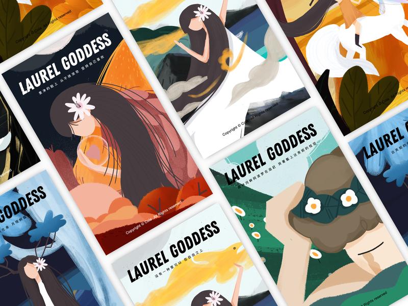 Laurel goddess<月桂女神> 女孩 设计 插图