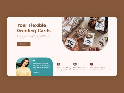 Greeting Cards Landing Page Design landingpage landing elementor templates ux ui greetings congratulation greeting cards greetingcard greeting