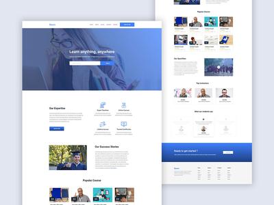 E-Learning portal design concept