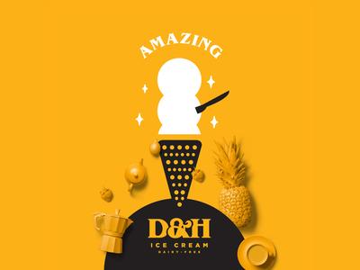 D&H Ice Cream Illustration