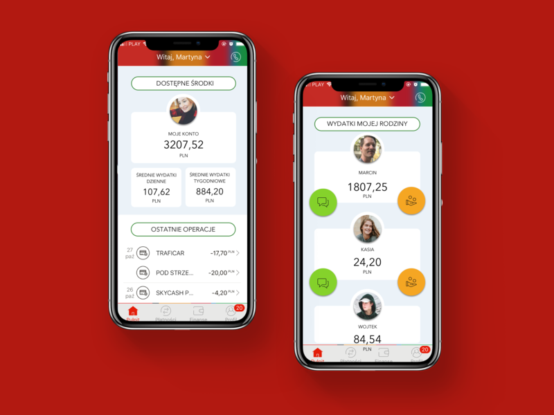 mBank - a perfect banking experience family savings invoices paying invoices redesigned redesign mbank uxchallenge app mobile sketch kulturowa movade uxfriday