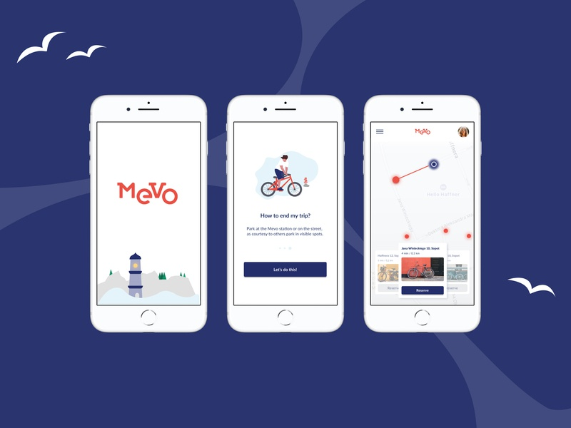 Mevo - rent a bike and go! 🚲 gdańsk sopot gdynia traveling ui sketch design interface poland traficar carrenting renting uxdesign uidesign mobileapp mevo