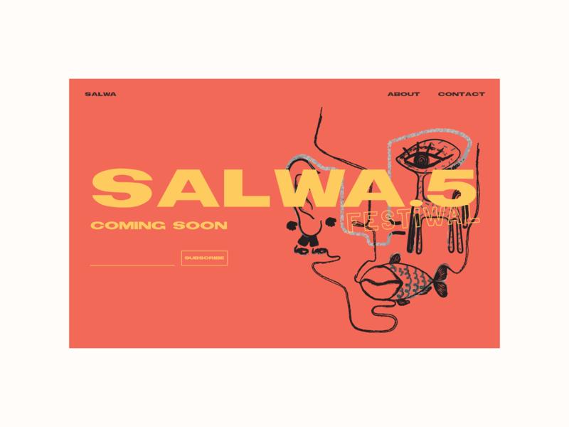 SALWA.5 - Secret Festival theatre theater webdesign illustration dianavaleanu absurd design website festival