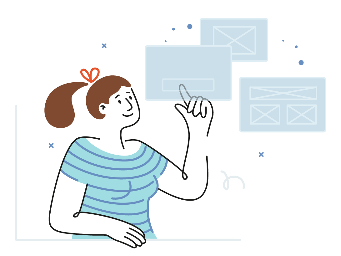 Explore a prototype website web vectorart app design vector minimal illustration adobe illustrator