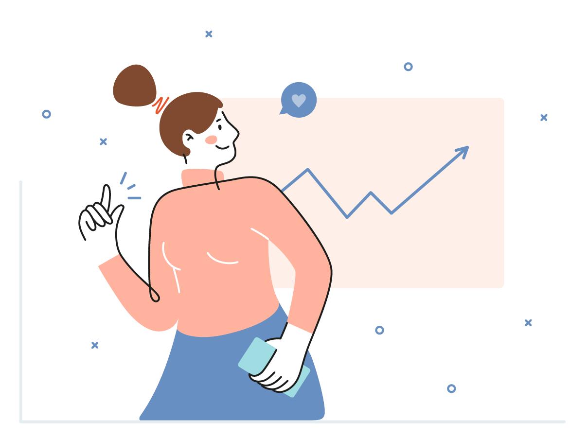 Progress illustration 📈 vectorart minimal app websitedesign website vector illustration flat