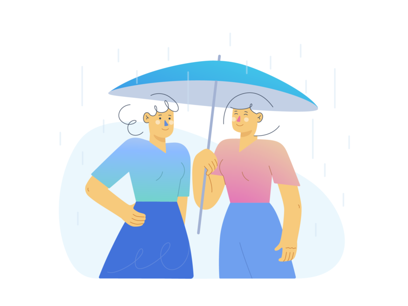 Rain Drops ☔ design minimal web vectorart vector illustration flat adobe illustrator