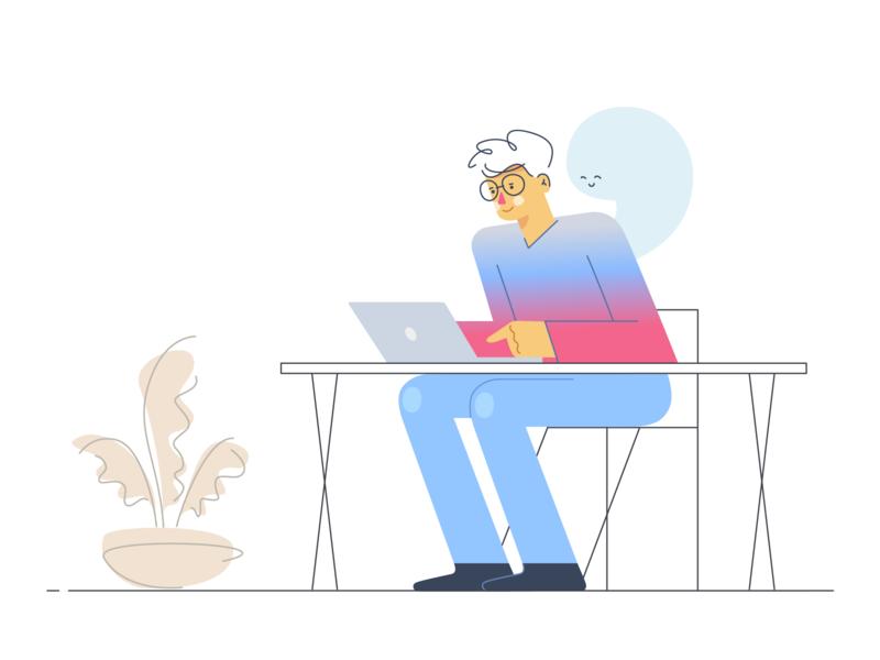 Mindfulness at Work vectorart design vector illustration flat adobe illustrator