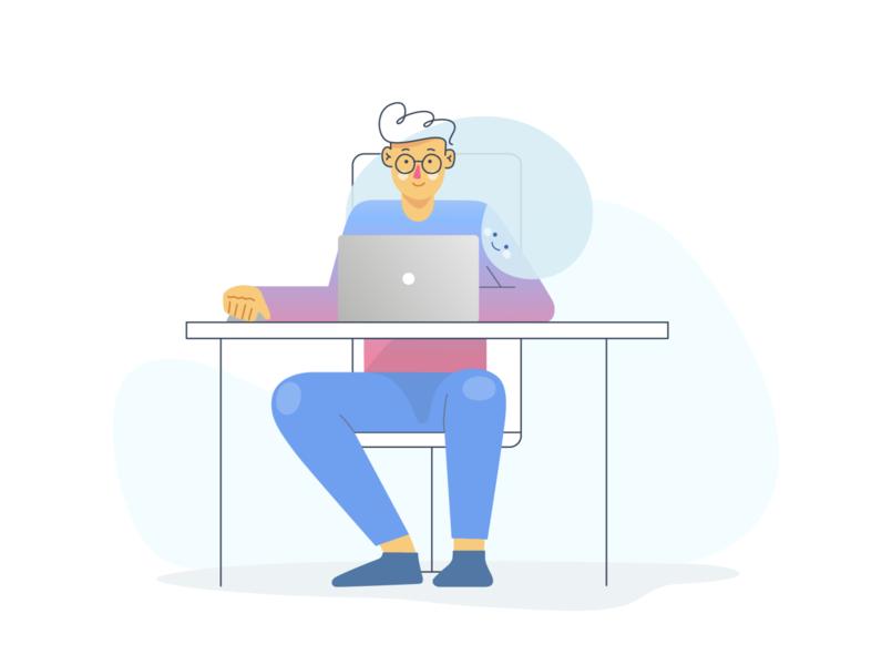 Mindfulness at Work vectorart minimal vector illustration flat adobe illustrator