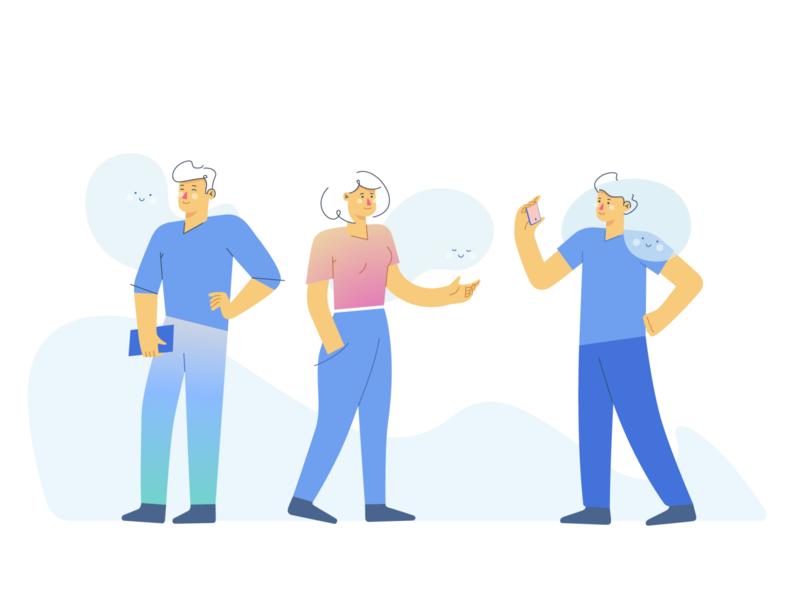 Mindful People vectorart minimal vector illustration flat adobe illustrator