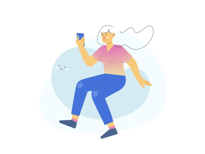 Mental well-being design vector illustration vectorart minimal flat adobe illustrator