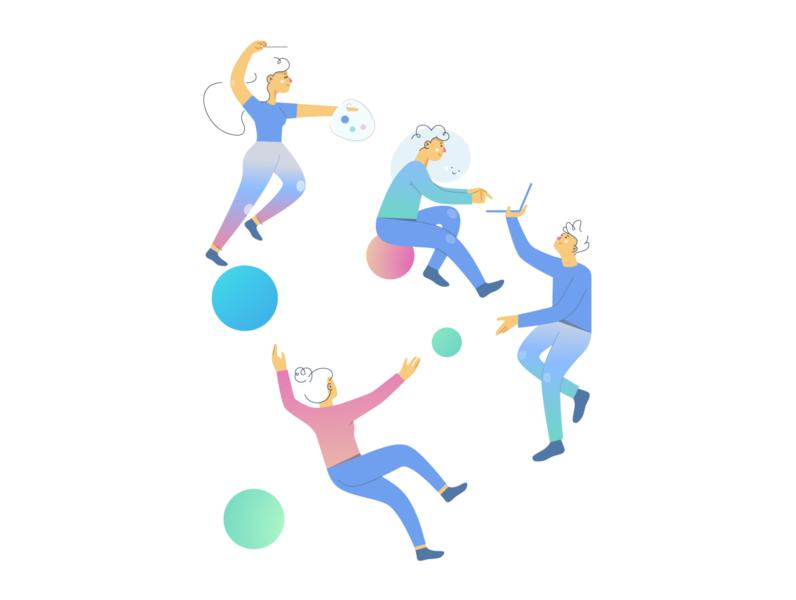 Teamwork design website vectorart minimal vector illustration flat adobe illustrator