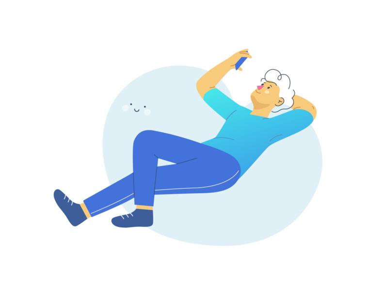 Relaxation design vectorart minimal vector illustration flat adobe illustrator