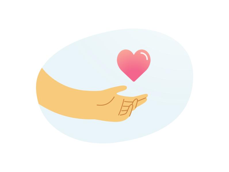 Taking care app icon design vectorart minimal vector flat illustration adobe illustrator