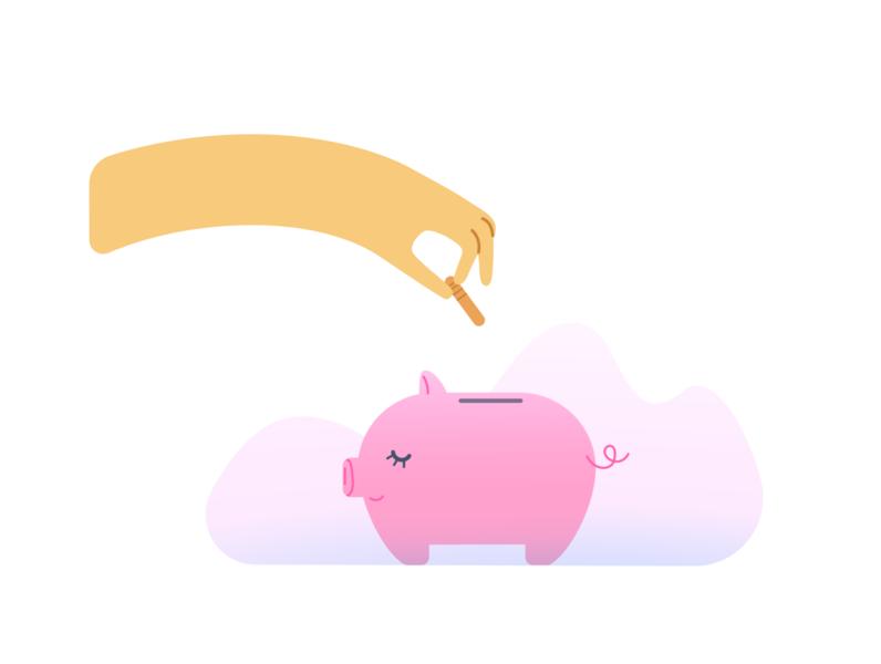 Piggybank 💰 design vectorart minimal vector illustration flat adobe illustrator
