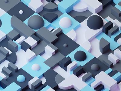 3D pattern pattern generative random blender 3d