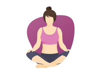 Yoga pink calm meditation woman yoga